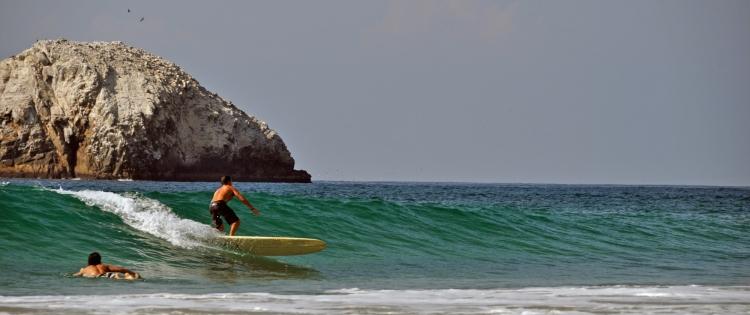 Jamie on a nice wave