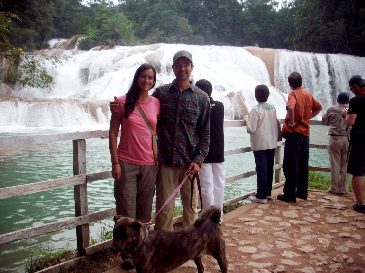 Us and a few of our closest friends at Agua Azul
