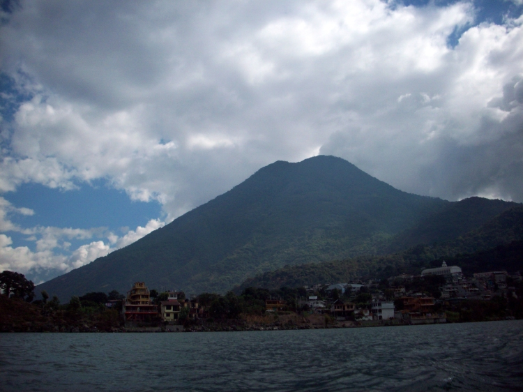 The volcano on the lake