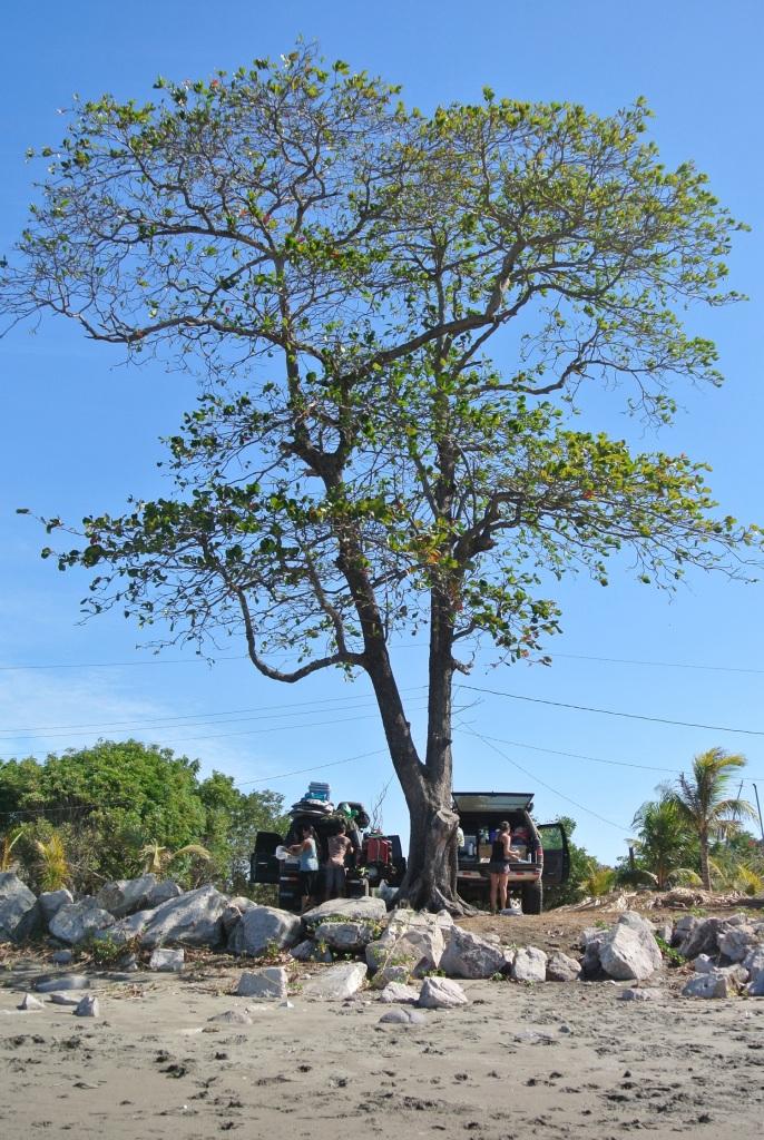 Camp in Playa Jiquilillo
