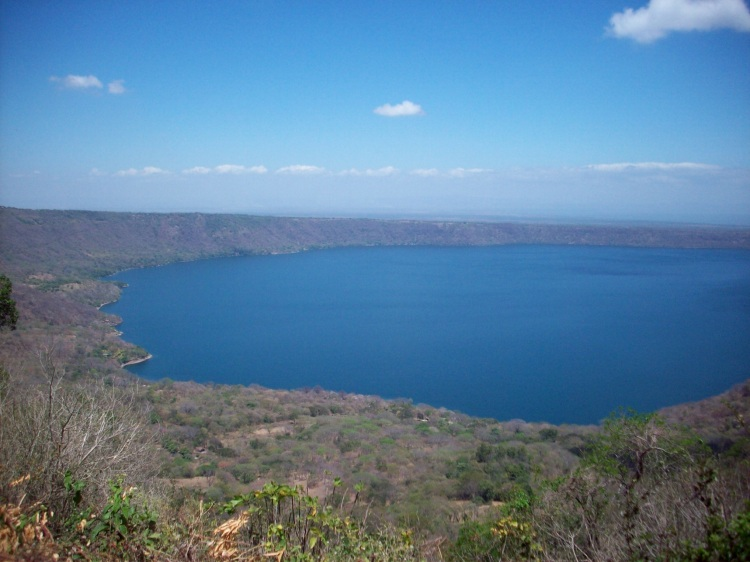 View of the lake from the rim