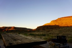 sunrise just peaking over